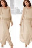 Robe de mère pantalon de costume Attrayant Naturel taille Manche Bishop