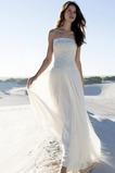 Robe de mariée Bustier Été Plage Romantique aligne Mousseline de soie