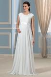 Robe de mariée Chiffon Longueur ras du Sol Jardin Luxueux Ceinture en Étoffe