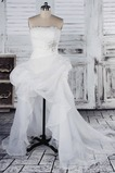 Robe de mariée Printemps Asymétrique Perle Naturel taille Plage