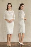 Robe de mariée Dentelle Zip Tissu Dentelle aligne Médium Longueur Genou