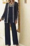 Robe de mère pantalon de costume Été Manche Longue Naturel taille
