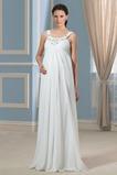 Robe de mariée Fourreau pli Printemps Chiffon Ample & Ornée Larges Bretelles