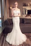 Robe de mariée Formelle Naturel taille Manquant Lacet Couvert de Dentelle