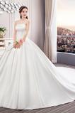 Robe de mariée Salle Lacet Norme Naturel taille A-ligne Traîne Royal
