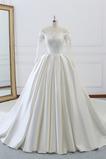 Robe de mariée Salle Lacet Plus la taille Satin Appliques Naturel taille