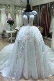 Robe de mariée A-ligne Formelle Naturel taille Soie Col Bateau