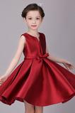 Robe Cortège Fille A-ligne Satin Fermeture éclair Automne Glamour