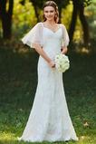 Robe de mariée Col Élisabéthain Appliques Exquisite Taille chute