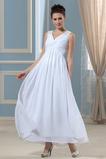 Robe de mariée Grandes Tailles Elégant Chiffon Zip Col en V Empire