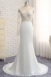 Robe de mariée Fourreau Perspectif Manquant Manche Longue Mode