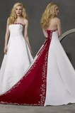 Robe de mariée Traîne Longue Milieu dos Chapelle Broderie Mince