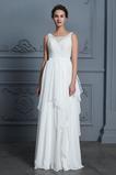 Robe de mariée Décolleté Dans le Dos De plein air A-ligne Chiffon