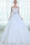 Robe de mariée Dos nu Appliques Classique A-ligne Couvert de Dentelle