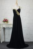 Robe de Soirée Longue Épaule Asymétrique Rectangulaire Romantique