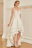 Robe de mariée Sans Manches Asymétrique Elégant Asymétrique Fermeture éclair