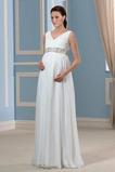 Robe de mariée Corsage plissé Plissé Elégant Empire Grossesse