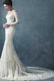 Robe de mariée Dentelle Longue Manche Longue Automne Portrait