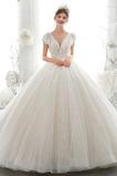 Robe de mariée Naturel taille Froid A-ligne Perlé Poire Manche Lâche