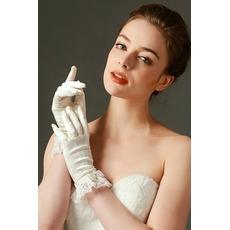 Gants de mariage Full finger Dentelle Ivory Short Mode Printemps