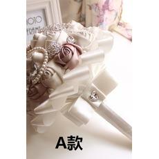 Une simple nouvelle atmosphère diamond main haut de gamme de la perle de la mariée bouquet