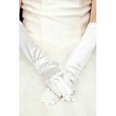 Gants de mariage Full finger Black Satin Élastique Warm Cérémonial