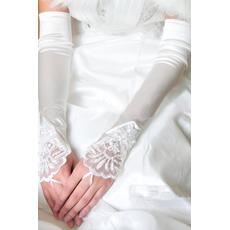 Gants de mariage Elégant Taffetas Plage Appliquer Hiver