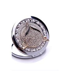 Catégorie supérieure double face le charme pliantes Inlaid diamond Business petit miroir & peigne