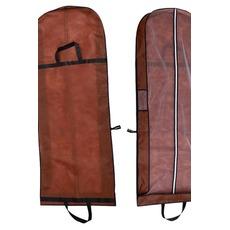 Brune double usage robe portable étanche à la poussière Sac pliage grand mariage pare-poussière
