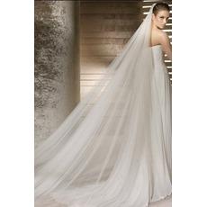 Voile de mariée Formelle Printemps Traîne Mi-longue Multi Couche