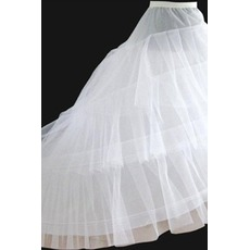 Jupon de mariage Elastic waist Width Two rims Flouncing Wedding dress