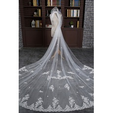 Voile de mariée With Comb Super Long Size can be customized Froid