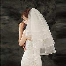Voile bouffant court pas cher accessoires de mariage voile simple