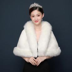 Manteau de mariage chaud hiver mariée blanche châle