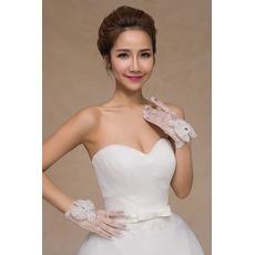 Gants de mariage Perler Short Été White Thin Decoration