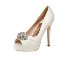 12CM Super High Heel Strass Chaussures de mariage Chaussures de soirée en satin