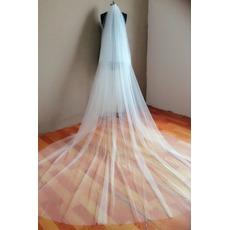 Voile de mariée Classique Multi Couche Hiver Traîne Longue