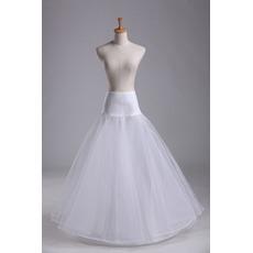 Jupon de mariage Spandex Standard Long Single rims Elastic waist