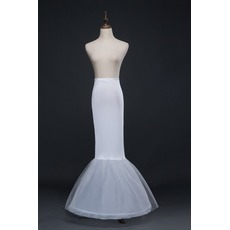 Jupon de mariage Frameless Mermaid Spandex Elastic waist Full dress