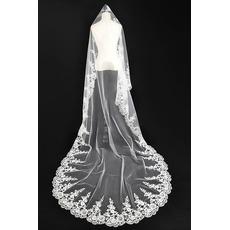 Voile de mariée Automne Glamour Appliquer Robe de Mariée Déesse