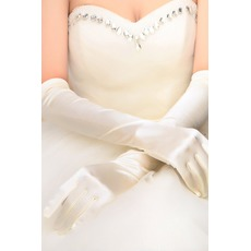 Gants de mariage Sommaire Taffetas Long Eglise Full finger Printemps