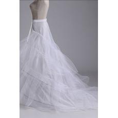 Jupon de mariage Three rims Perimeter Double yarn Mermaid Wedding dress