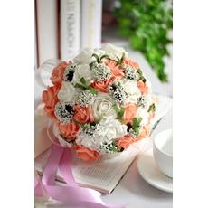 Rose dans toute la fleur décorative combinaison étoile du ciel