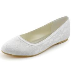 Chaussures de mariage en dentelle chaussures de mariage plates pour femmes enceintes talons bas confortables
