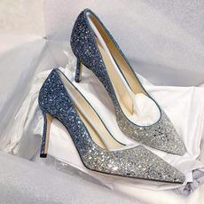 Chaussures de mariage pour femmes en cristal paillettes chaussures de mariée mariage talons hauts