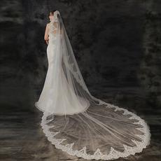 3 mètres de long voile de mariée voile applique voile voile blanc ivoire