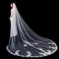 Voile de mariée en dentelle de haute qualité 3 mètres de long voile de mariée avec accessoires de mariage en peigne