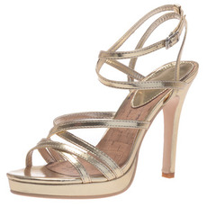 11CM sandales à plateforme à talons hauts dorées chaussures pour femmes