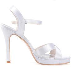 Croix haut de gamme personnalisé ceinture mince femmes sandales chaussures de mariage en satin chaussures de banquet