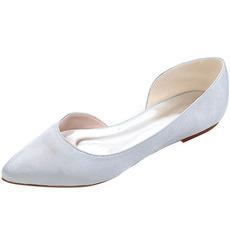 Chaussures à bout pointu Chaussures plates en satin Chaussures de soirée pour femmes